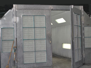Auto body shop paint booth